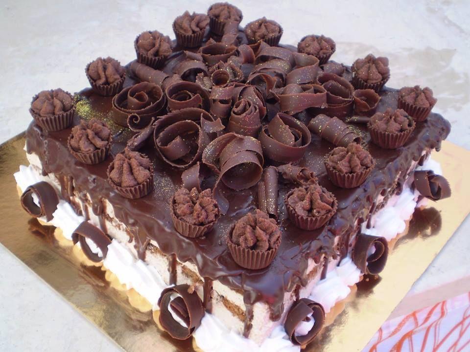 ganache kakku -