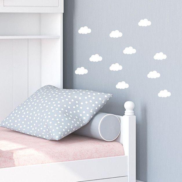 Wolken Wandsticker 7cm Schlafzimmer Wandtattoo Wandsticker - wandtattoos fürs schlafzimmer