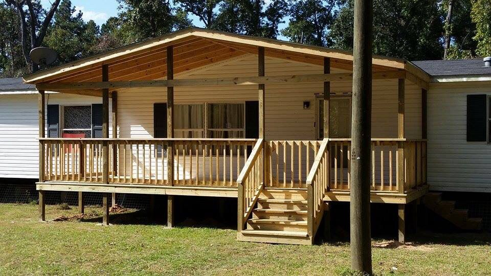Gable Roof Porch Add On To Mobile Home Built By O Miller Construction Manufactured Building A