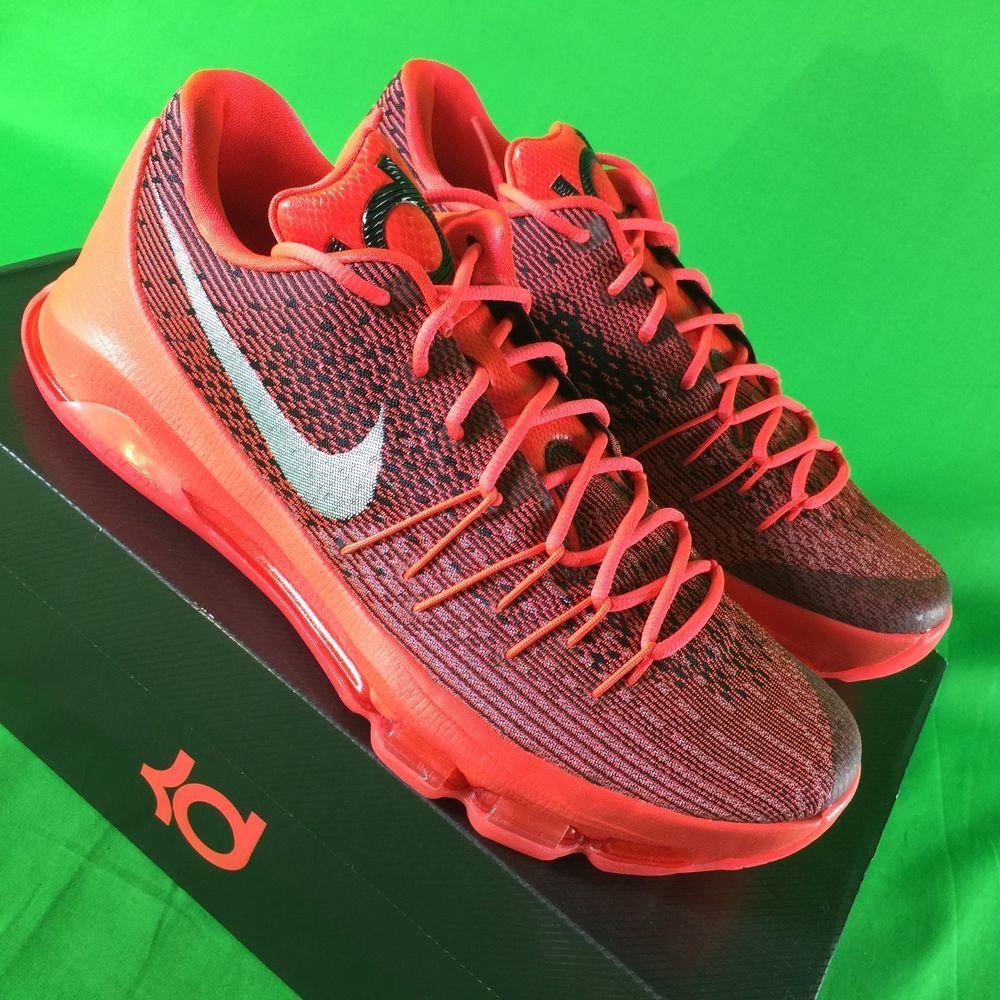 397f7d3da258 Nike KD 8 VIII Bright Crimson Red Mens Sz 11.5 Kevin Durant Basketball  Shoes NEW