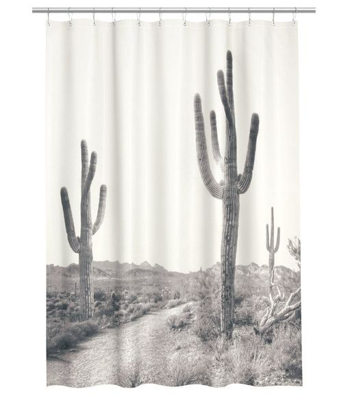 Desert Shower Curtain By H M Unique Shower Curtain Cactus