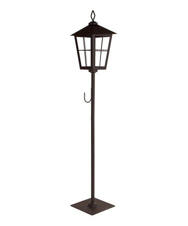 Another great find on #zulily! Black Streetlamp Wreath Holder Lantern #zulilyfinds