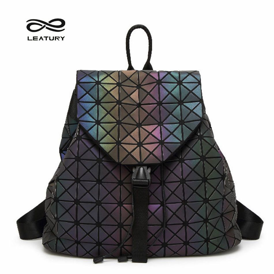 Geometric Backpack Holographic Backpack Most Bao Bagpack Travel Bag