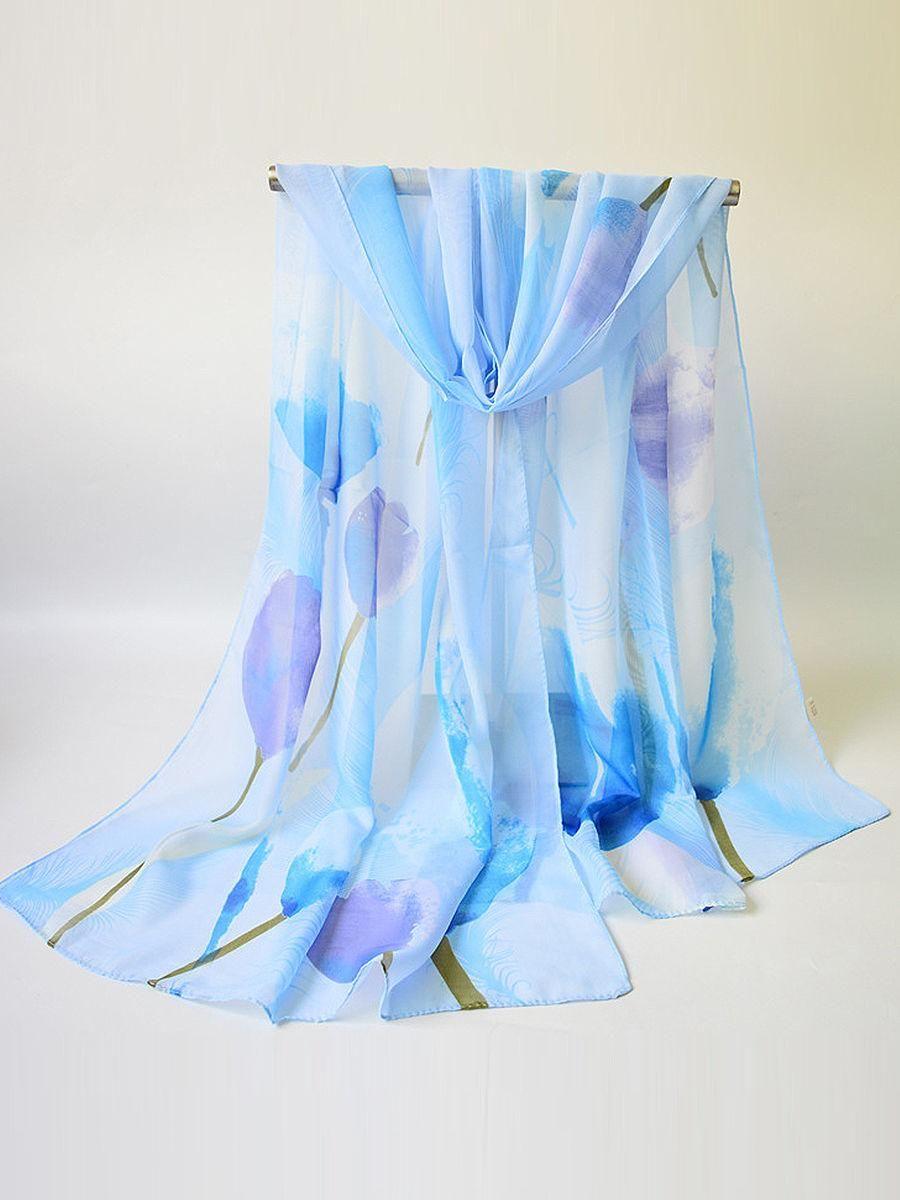 Fashionmia - Fashionmia Chiffon Floral Printed Scarves - AdoreWe.com