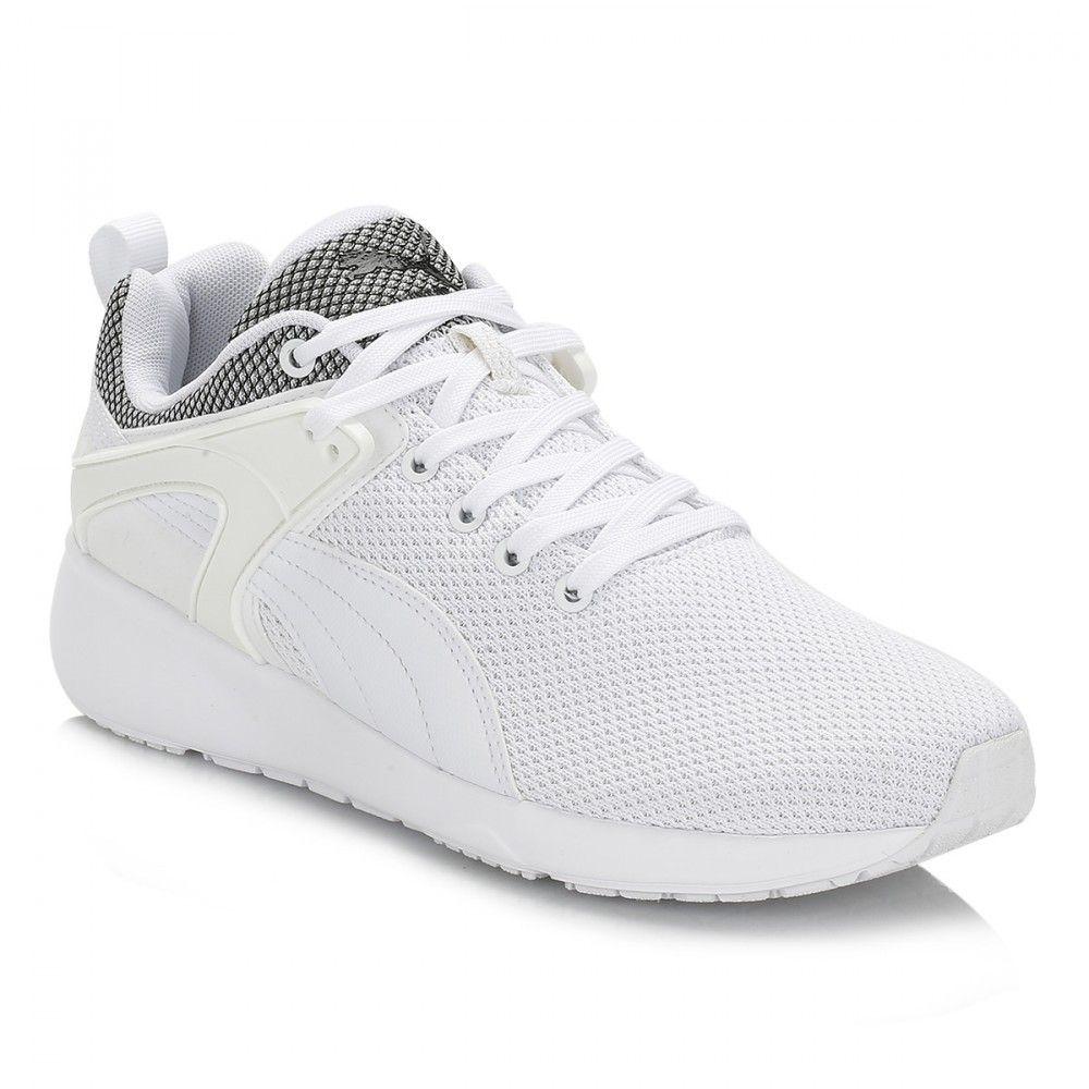 mens white puma trainers