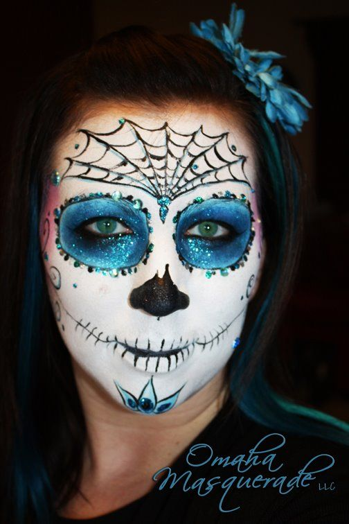 Day of the Dead Face painting by wwwomahamasquerade Face and - face painting halloween ideas