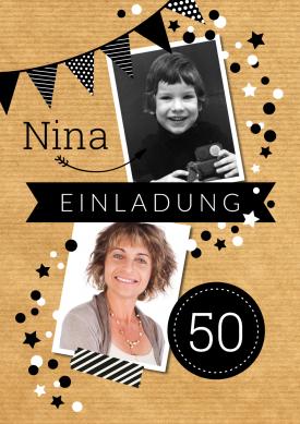 Einladungskarten 50 Geburtstag selbst gestalten
