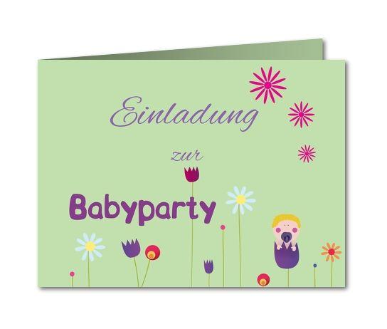 Einladung Babyparty Liebesblümchen (B 622)