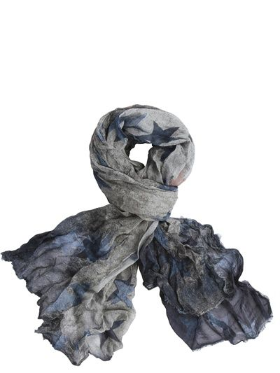 813 - MODAL AND CASHMERE STARS SCARF