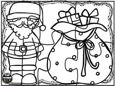 Puzzles navidad para colorear (2) | hojas pintar navidad | Pinterest ...