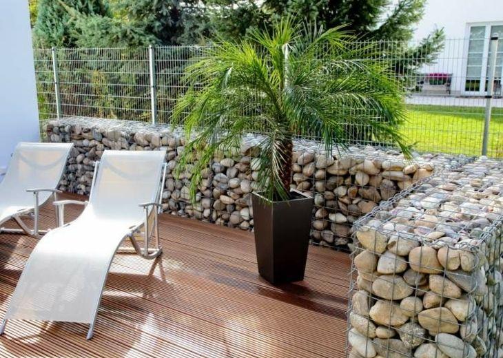 gaviones decorativos para el jard n y jardiner a muros gaviones terraza diseno contemporaneo ideas