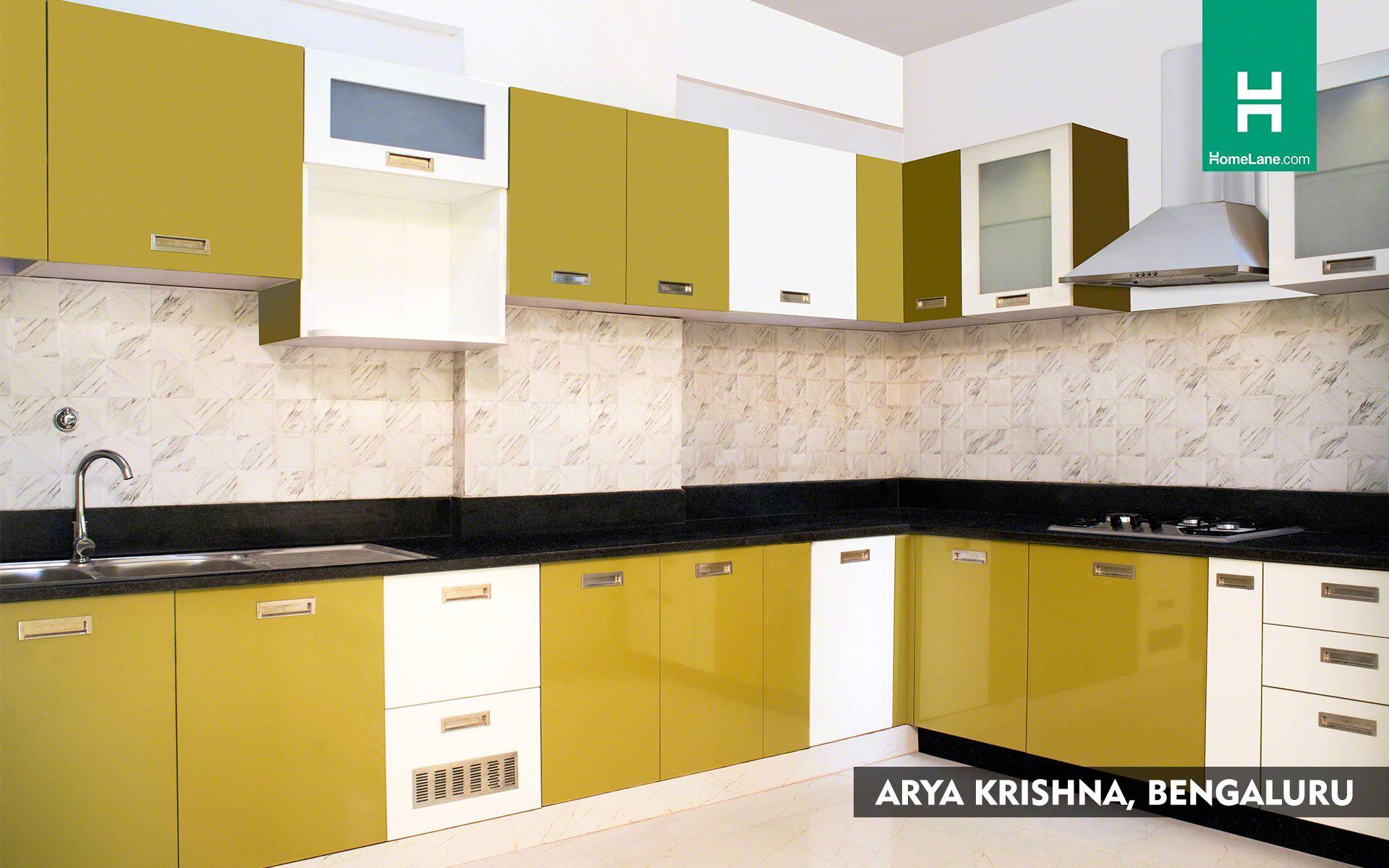 kitchen dark citrus white   Kitchen cabinets, L shaped modular ...