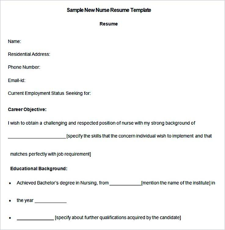 Sample New Nurse Resume Template , Nurse Resume Template And General Resume  Writing Tips , Use
