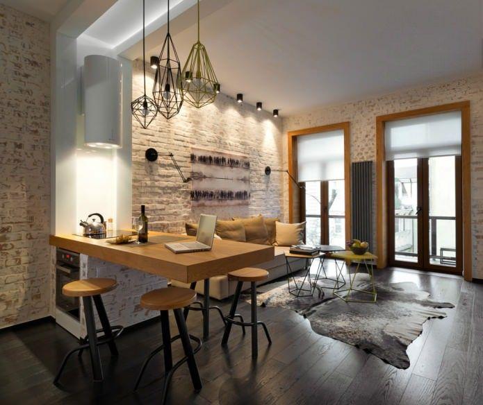 дизайн квартиры лофт 7