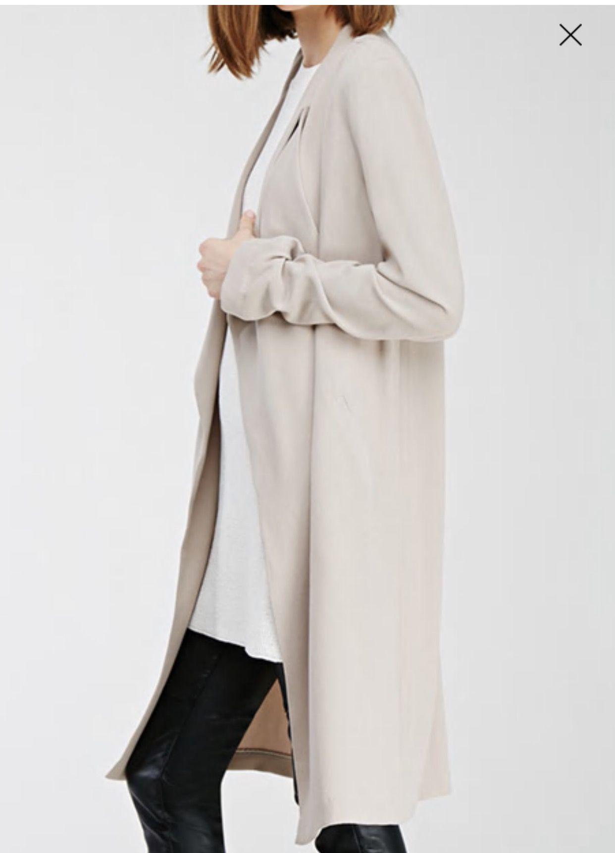 Taupe longline coat