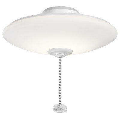Darby Home Co Low Profile 1-Light LED Bowl Ceiling Fan Light Kit Finish: Silver