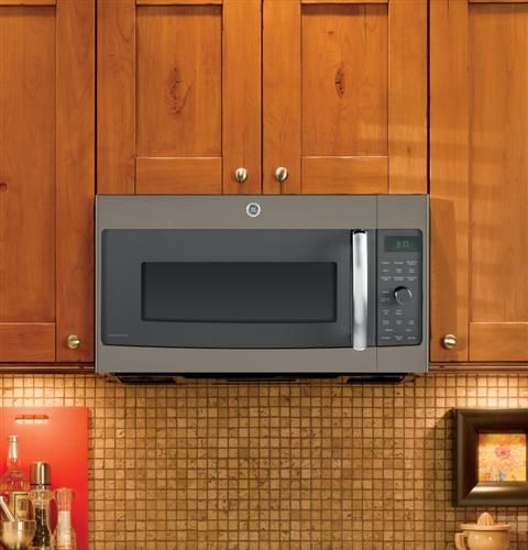 Ge Profile Series 1 7 Cu Ft Convection Over The Range Microwave Oven Pvm9179efes Kitchen Built Ins Over The