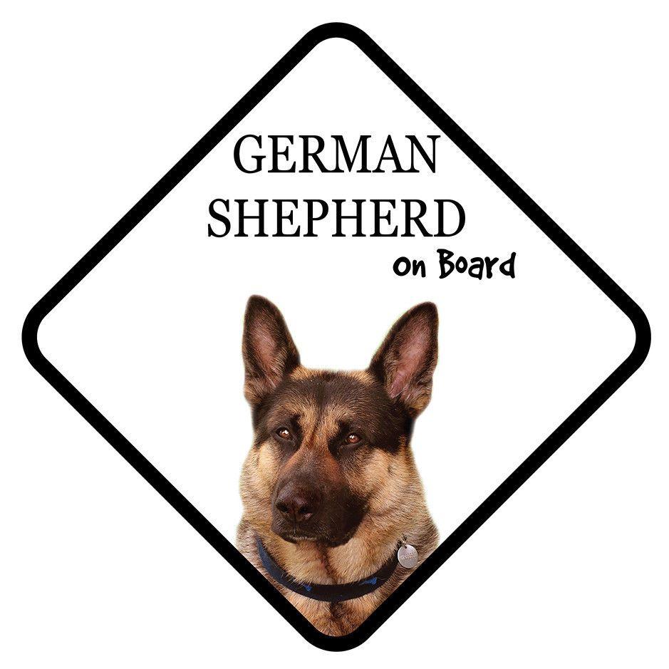 German Shepherd On Board Car Sign With Sucker Dog Stickers Ebay Dog Stickers German Shepherd Car Signs [ 939 x 939 Pixel ]