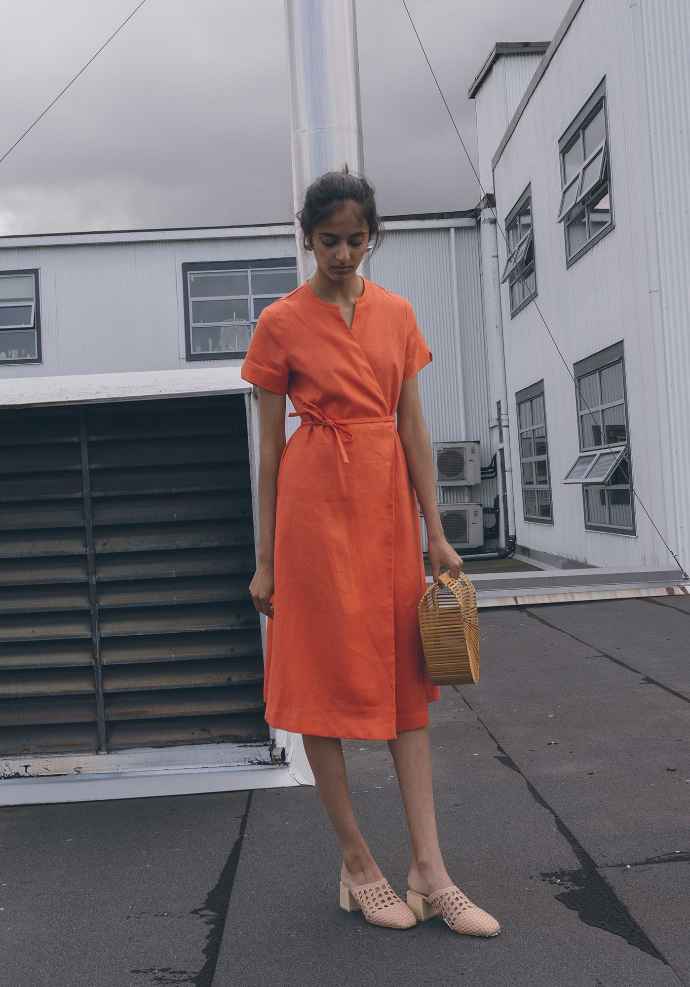 Garmentory Exclusive Nikki Chasin Leda Wrap Dress On Garmentory Wrap Dress Vintage Band T Shirts Dresses [ 2000 x 1398 Pixel ]