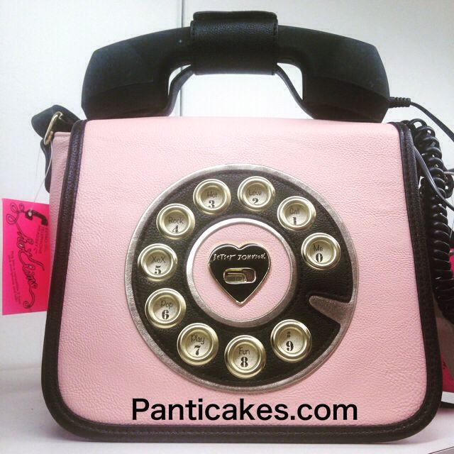 2de6a2e5b0a7 My new Betsey Johnson working pink rotary phone purse to complement my pink  motor scooter