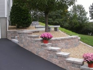 Wall Building In Ma Front Yard Landscaping Landscaping Retaining Walls Sloped Garden