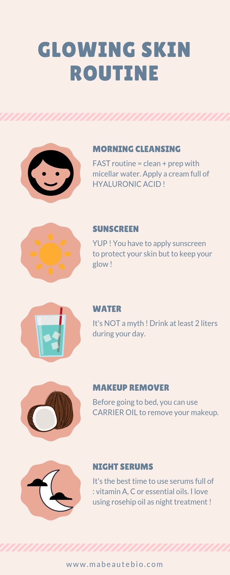 Step By Step Glowing Skincare Routine Apply And See The Results Skin Skincareroutine Skincare Skinfo Glowing Skin Routine Glowing Skincare Skin Routine
