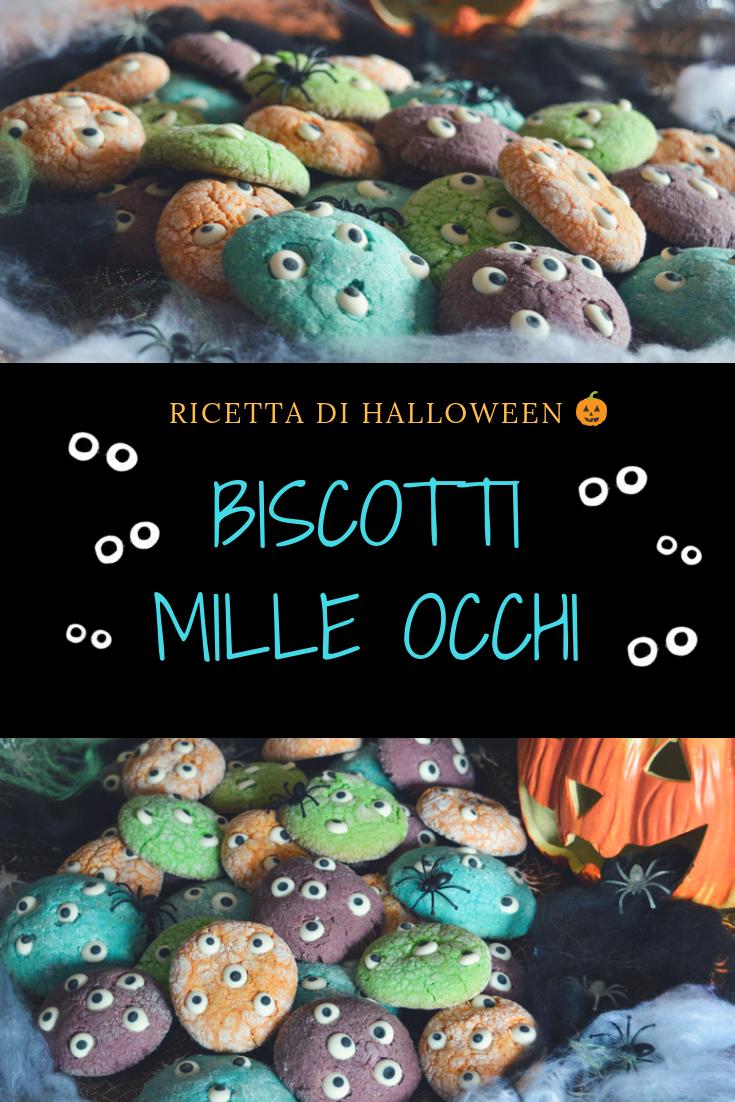 Biscotti mille occhi ricetta di Halloween Ricetta