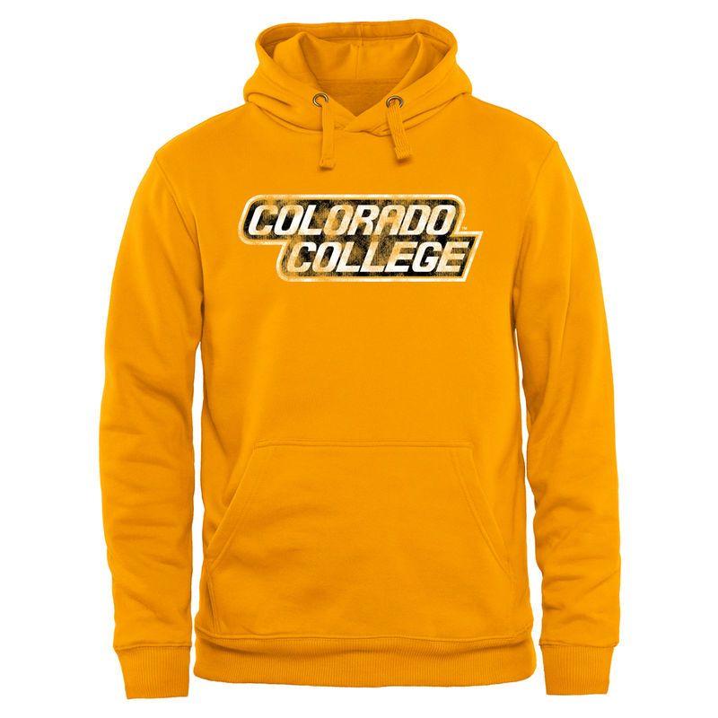 e53e1dd4 Colorado College Tigers Classic Wordmark Pullover Hoodie - Gold ...