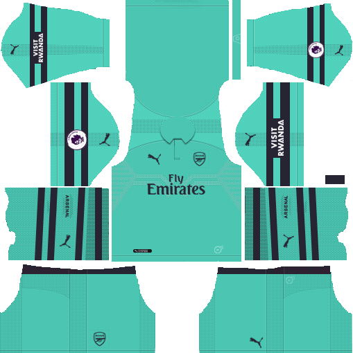 Dream League Soccer Kits Arsenal 2018 19 Third Kit Url 512x512 Soccer Kits Goalkeeper Kits Arsenal Kit