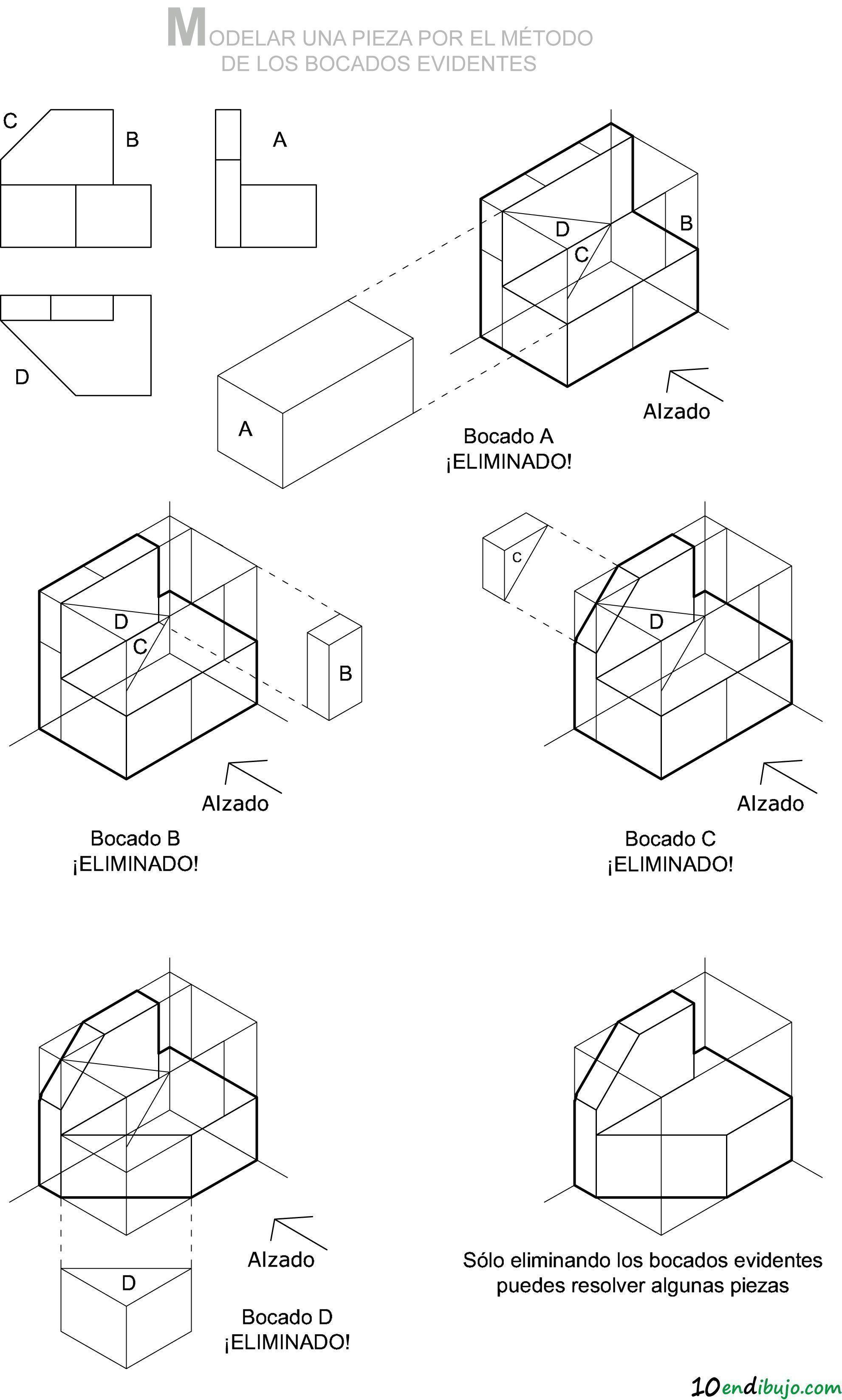 Isometrica Modelado De Pieza Tecnicas De Dibujo Perspectiva Caballera Clases De Dibujo