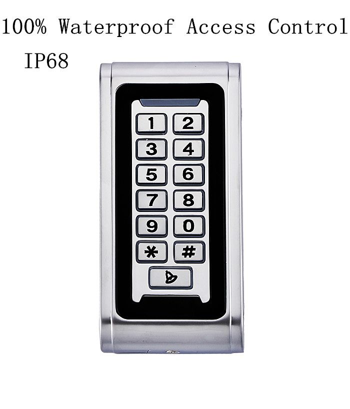 Metal Case 100% Waterproof IP68 RFID Standalone Door Access Control