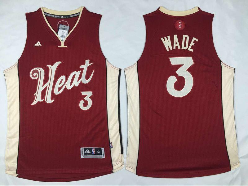 NBA Miami Heat 3 Dwyane Wade Revolution 30 Swingman 2015