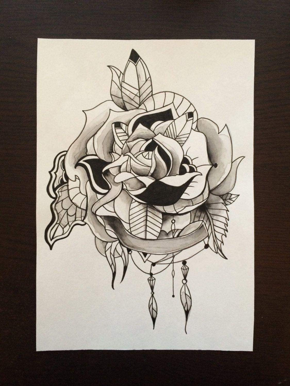 mandala rose tattoo google search floral mandala. Black Bedroom Furniture Sets. Home Design Ideas