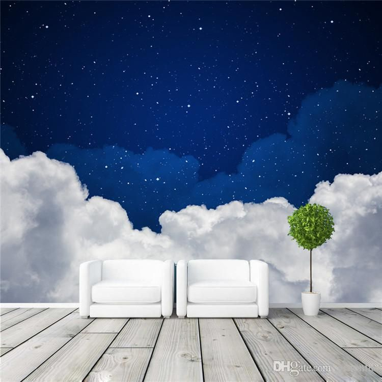 Cool Wallpapers For A Room: Night Sky Photo Wallpaper Galaxy Wallpaper 3D Charming
