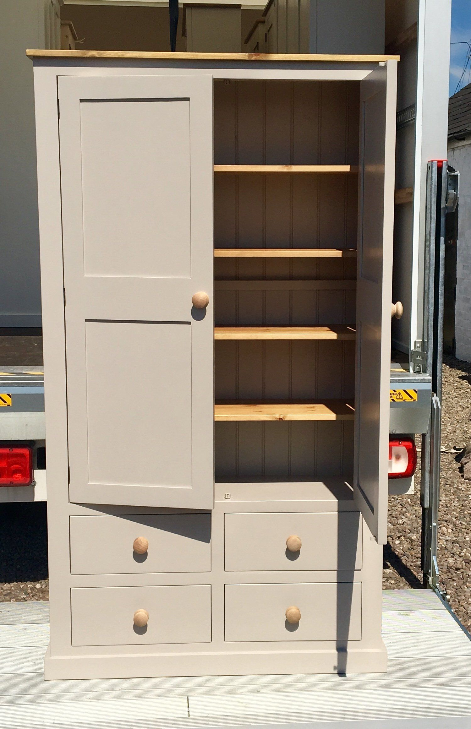 2 Door With 4 Drawer Kitchen Pantry Larder Storage Cupboard With Spice Racks Informations About 2 Door With 4 In 2020 Cupboard Storage Larder Storage Storage Drawers