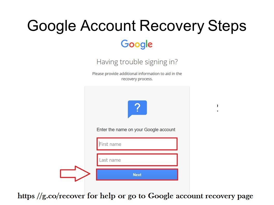 How To Fix Recovery Process At Https G Co Recover Or Go To Google Account Recovery Help Webpage Account Recovery Google Account My Google Account