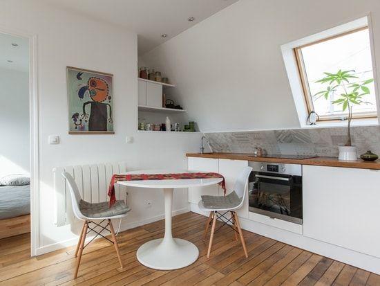 Une cuisine ouverte gain de place Déco cuisine Pinterest - amenager une cuisine ouverte