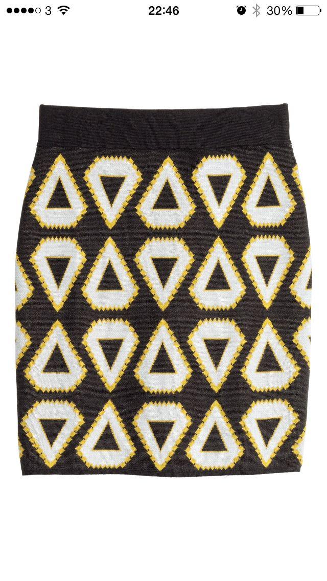 H&M SS14 pattern yellow <3
