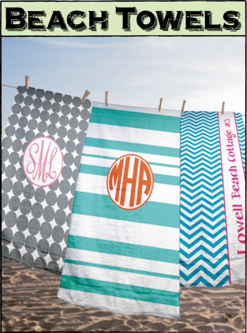 Make Your E At The Beach Even More Personal With Very Own Personalized Towel