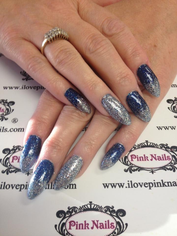 blue faded stilettos nails - Google Search   Nails   Pinterest