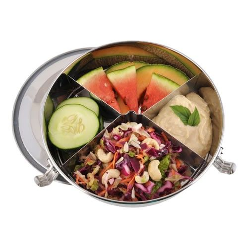 Round Stainless Steel Airtight TakeOut Container with