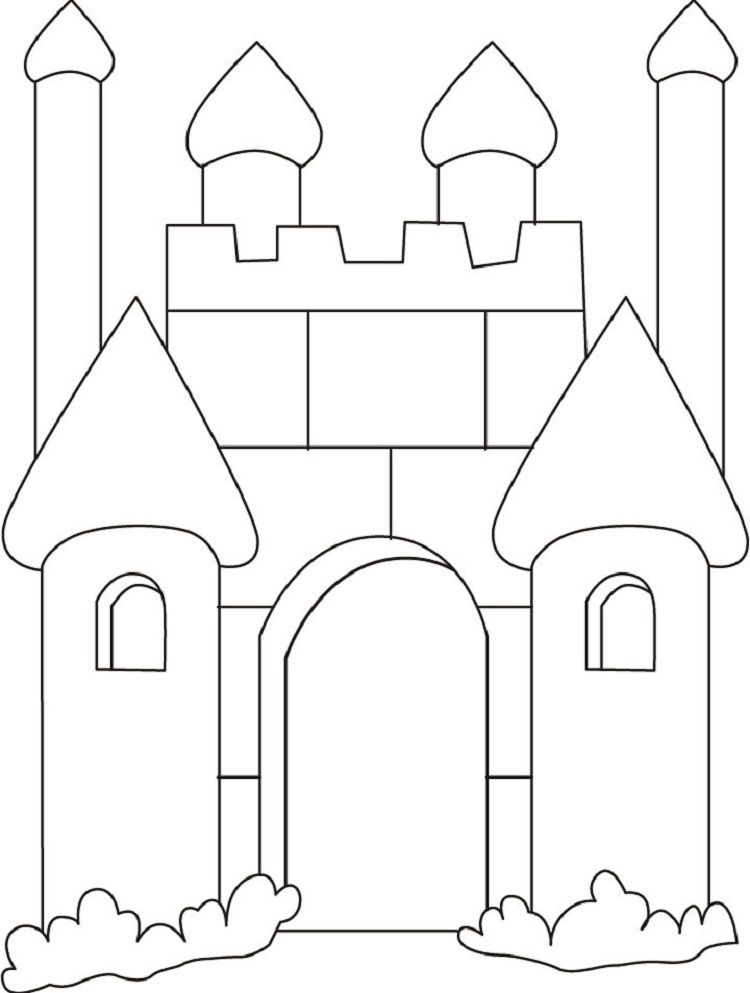 Castle Coloring Pages For Preschoolers Coloring Pages Ideas