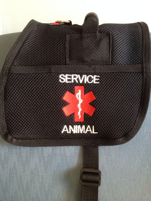 Handmade Custom Service Animal dog vest with 2 pockets