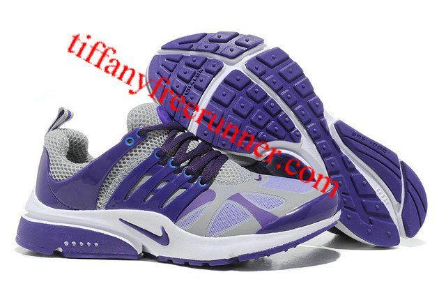 sports shoes ecc33 7c970 Nike Presto 4 Purple Gray White Womens Running Shoes ...