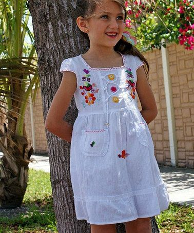 Look at this #zulilyfind! White Lily Dress - Toddler & Girls by Little Cotton Dress #zulilyfinds