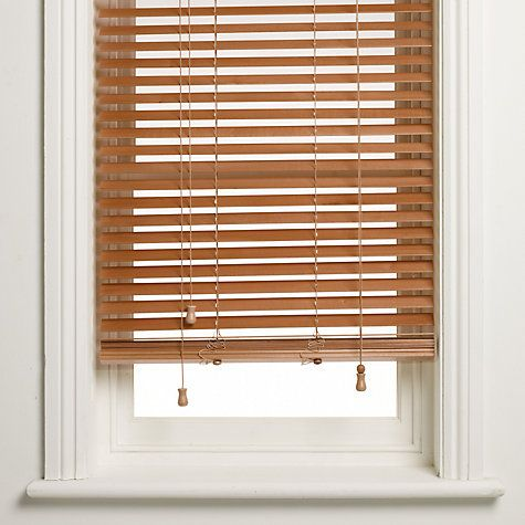Buy John Lewis Wooden Venetian Blind Havana 35mm John Lewis Blinds Venetian Blinds Custom Window Blinds