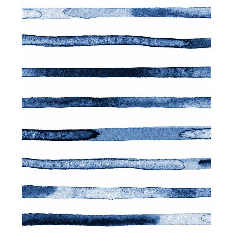 Casper Watercolor Stripes Paintable Peel And Stick Wallpaper Panel Reviews Allmodern Paintable Wallpaper Wallpaper Panels Waves Wallpaper