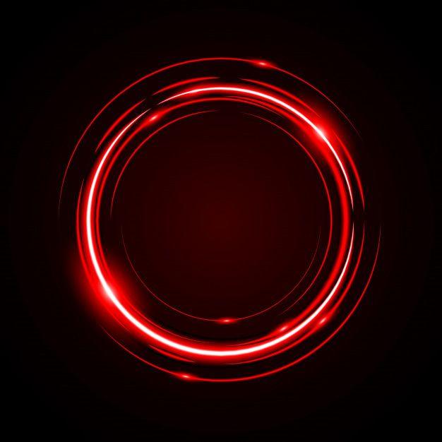 Abstracte Cirkel Licht Rood Frame Vector Achtergrond Circle Light Vector Background Light Red