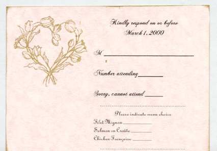 17 Best images about W Invitations – Wedding Invite Response Card