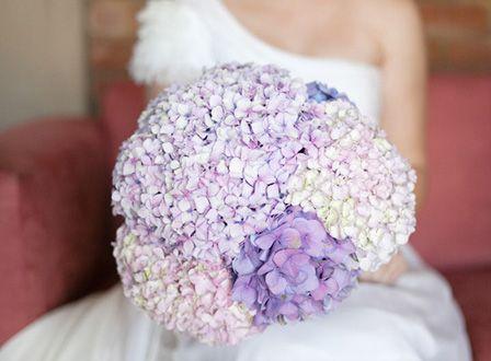 Blooms On A Budget Hydrangea Wedding Bouquetspurple